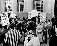1965 FILE -<br /> <br /> Pro and anti-U.S. groups mingle at U.S. consulate; Varsity students came close to brawling over American raids on Viet Nam<br /> <br /> <br /> 1965<br /> <br /> PHOTO :  Gordon McCaffrey - Toronto Star Archives - AQP