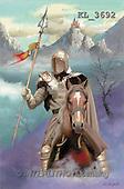 Interlitho, Luis, FANTASY, paintings, knight, horse, KL, KL3692,#fantasy# illustrations, pinturas