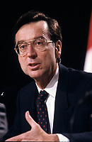 Montreal (QC) CANADA - File Photo taken between 1984 and 1996- Robert Bourassa