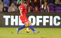 ORLANDO, FL - NOVEMBER 15: Jordan Morris #11 of the United States turns and moves with the ball during a game between Canada and USMNT at Exploria Stadium on November 15, 2019 in Orlando, Florida.