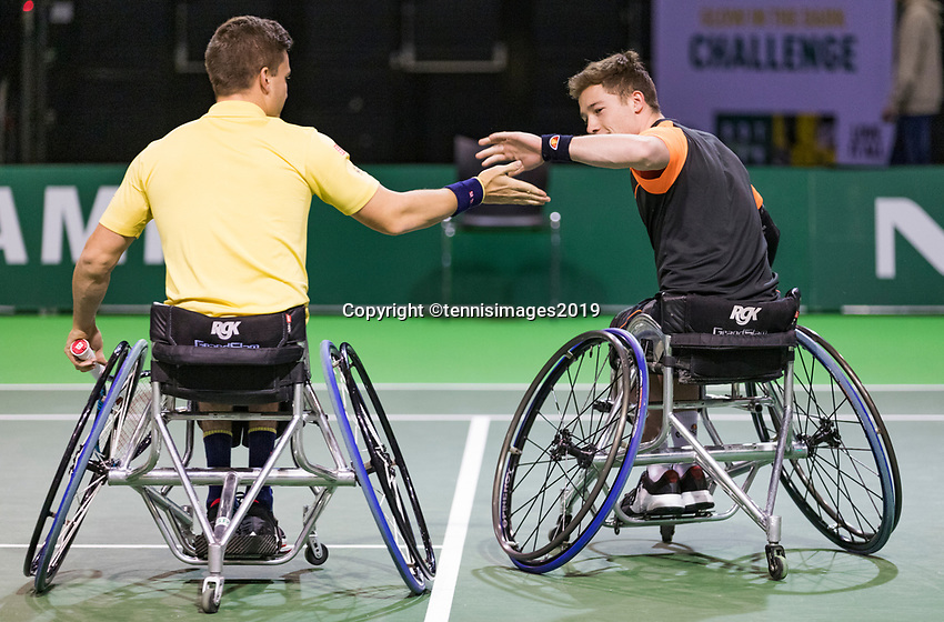 Rotterdam, The Netherlands, 14 Februari 2019, ABNAMRO World Tennis Tournament, Ahoy, Wheelchair, doubles,<br /> Photo: www.tennisimages.com/Henk Koster