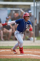Jordan McCladdie (4) during the WWBA World Championship at the Roger Dean Complex on October 10, 2019 in Jupiter, Florida.  Jordan McCladdie attends Harlem High School in Harlem, GA and is committed to Georgia Southern.  (Mike Janes/Four Seam Images)