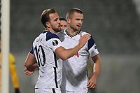 5th November 2020; RAZGRAD, BULGARIA; UEFA Europa League football, group stages;  Ludogorets Razgrad versus Tottenham Hotspur;  Harry Kane and Eric Dier of Tottenham celebrate  their goal