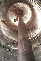 fermentation tank interior perforated column to pump must le cellier des princes chateauneuf du pape rhone france