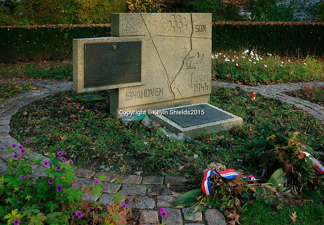 Plaque honoring those who gave their lives liberating Eindhoven, The Netherlands, near the end of World War 2.