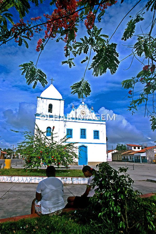 Igreja na cidade de Prado, Bahia. 1999. Foto de Juca Martins.