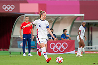 TOKYO, JAPAN - JULY 21: Becky Sauerbrunn #4 of the United States on the ball during a game between Sweden and USWNT at Tokyo Stadium on July 21, 2021 in Tokyo, Japan.