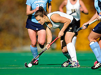 25 October 2009: University of Vermont Catamount defender Joanna Berger, a Junior from Rhinebeck, NY, in action against the Columbia University Lions at Moulton Winder Field in Burlington, Vermont. The Lions shut out the Catamounts 1-0. Mandatory Credit: Ed Wolfstein Photo