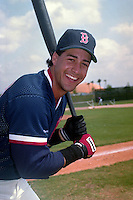 Boston Red Sox Phil Plantier during spring training circa 1991 at Chain of Lakes Park in Winter Haven, Florida.  (MJA/Four Seam Images)