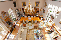 BNPS.co.uk (01202) 558833. <br /> Pic: Hamptons/BNPS<br /> <br /> The house has 3,455 sq ft of accommodation<br /> <br /> A grand mews house that was home to Henry Tate's art collection before he gifted it to the Tate Gallery is on the market for £1.8m.<br /> <br /> Henry Tate Mews is part of the former mansion that belonged to the sugar merchant in the late 1800s for 25 years.<br /> <br /> What is now an impressive Grade II* listed double height reception room was his billiard room where he displayed famous Pre-Raphaelite works of art including John Everett Millais' Ophelia.<br /> <br /> The five-bedroom house, which is on the market with Hamptons, also has shared access to the beautiful six acres of gardens that include an orchard, folly and a listed grotto.