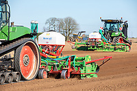 Cultivating for potatoes and incorporating Nemathorin - Lincolnshire, March