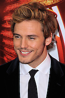 """NEW YORK, NY - NOVEMBER 20: Sam Claflin at the New York Premiere Of Lionsgate's """"The Hunger Games: Catching Fire"""" held at AMC Lincoln Square Theater on November 20, 2013 in New York City. (Photo by Jeffery Duran/Celebrity Monitor)"""