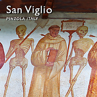 "Pictures of ""Dance of Death"" Murals of San Vigilio Pinzolo - Images Photos"