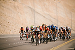 The peloton descending during Stage 4 of the Saudi Tour 2020 running 137km from Wadi Namar Park to Al Muzahimiyah King Saud University, Saudi Arabia. 7th February 2020. <br /> Picture: ASO/Pauline Ballet | Cyclefile<br /> All photos usage must carry mandatory copyright credit (© Cyclefile | ASO/Pauline Ballet)