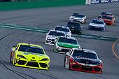 #19: Brandon Jones, Joe Gibbs Racing, Toyota Supra Menards/Swiffer and #20: Christopher Bell, Joe Gibbs Racing, Toyota Supra Ruud