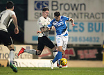 St Johnstone v Inverness Caley Thistle…03.12.16   McDiarmid Park..     SPFL<br />Richie Foster goes down in the box under a challenge by Josh Meekings but no penalty was given<br />Picture by Graeme Hart.<br />Copyright Perthshire Picture Agency<br />Tel: 01738 623350  Mobile: 07990 594431