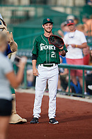 Fort Wayne TinCaps pitcher Jared Carkuff (21) before a game against the West Michigan Whitecaps on May 17, 2018 at Parkview Field in Fort Wayne, Indiana.  Fort Wayne defeated West Michigan 7-3.  (Mike Janes/Four Seam Images)