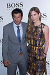 31.05.2012. Celebrities attend opening ceremony of the new BOSS Store Madrid Jorge Juan on the terrace of the Palacio de Cibeles. In the image Luis Figo and Helen Swedin (Alterphotos/Marta Gonzalez)