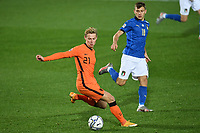Frenkie De Jong of Netherlands <br /> during the Uefa Nation League Group Stage A1 football match between Italy and Netherlands at Atleti azzurri d Italia Stadium in Bergamo (Italy), October, 14, 2020. Photo Andrea Staccioli / Insidefoto