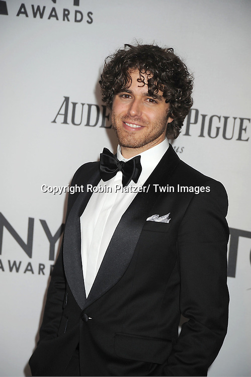 Josh Young attends th 66th Annual Tony Awards on June 10, 2012 at The Beacon Theatre in New York City.