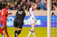 HOUSTON, TX - JANUARY 31: Rose Lavelle #16 of the United States nearly misses a goal during a game between Panama and USWNT at BBVA Stadium on January 31, 2020 in Houston, Texas.