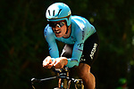 Jakob Fuglsang (DEN) Astana Pro Team in action during Stage 13 of the 2019 Tour de France an individual time trial running 27.2km from Pau to Pau, France. 19th July 2019.<br /> Picture: ASO/Pauline Ballet | Cyclefile<br /> All photos usage must carry mandatory copyright credit (© Cyclefile | ASO/Pauline Ballet)