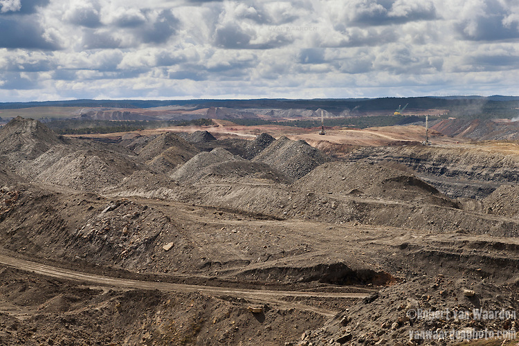 Still in operation, the Keyenta mine is another coal mine not far from where the Benally family lives.