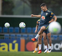 11th November 2020; Granja Comary, Teresopolis, Rio de Janeiro, Brazil; Qatar 2022 qualifiers; Bruno Guimaraes of Brazil during training session in Granja Comary