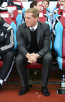 Sunday 07 December 2014<br /> Pictured: Swansea manager Garry Monk<br /> Re: Premier League West Ham United v Swansea City FC at Boleyn Ground, London, UK.