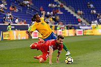 Harrison, NJ - Friday July 07, 2017: Michael Petrasso, Roy Contout during a 2017 CONCACAF Gold Cup Group A match between the men's national teams of French Guiana (GUF) and Canada (CAN) at Red Bull Arena.
