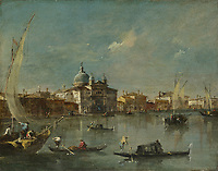 Full title: Venice: The Giudecca with the Zitelle<br /> Artist: Francesco Guardi<br /> Date made: 1780s