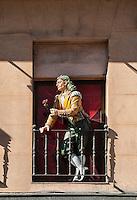 Medieval mannequins, Arte Toledano<br /> Paseo Prado, Madrid, Spain