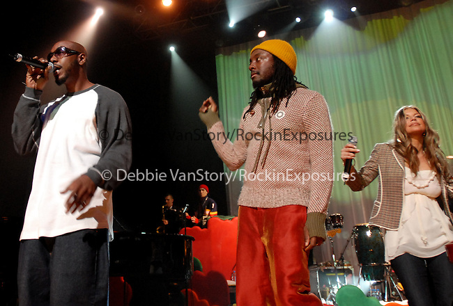 """The Black Eyed Peas and special guests perform live at The Peapod Foundation Benefit Concert ,supporting the upcoming release of Sergio Mendes's new release """"Timeless"""" at The Henry Fonda Music Box in Hollywood,California on February 6,2006.Copyright 2006 by RockinExposures"""