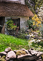 Charming traditional Irish cottage detail, Ireland