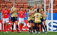USA celebrate another goal..FIFA U17 Women's World Cup, USA v Korea Republic, Waikato Stadium, Hamilton, New Zealand, Sunday 9 November 2008. Photo: Renee McKay/PHOTOSPORT