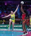 28/10/17 Fast5 2017<br /> Fast 5 Netball World Series<br /> Hisense Arena Melbourne<br /> Australia v Malawi<br /> Sam Poolman<br /> <br /> <br /> <br /> <br /> Photo: Grant Treeby