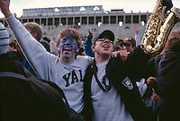 Football crowd Harvard Yale game, Cambridge, MA