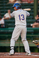 Juan Lagares #13 of the St. Lucie Mets during a game against the Daytona Cubs at Jackie Robinson Ballpark on May 23, 2011 in Daytona Beach, Florida. (Scott Jontes / Four Seam Images)