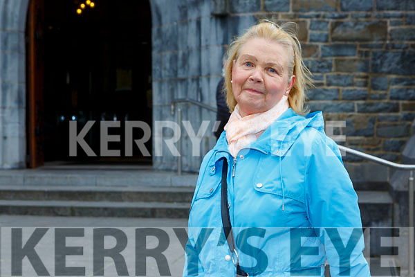 Maureen Cronin Countess grove who prayed for her late husband at St Mary's Cathedral mass reopened  on Monday