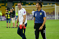 BUCARAMANGA - COLOMBIA, 09-02-2020: Fernando Batista técnico de Argentina durante partido entre Argentina U-23 y Brasil U-23 por el cuadrangular final como parte del torneo CONMEBOL Preolímpico Colombia 2020 jugado en el estadio Alfonso Lopez en Bucaramanga, Colombia. / Fernando Batista coach of Argentina during match against Uruguay of for the final quadrangular as part of CONMEBOL Pre-Olympic Tournament Colombia 2020 played at Alfonso Lopez stadium in Bucaramanga, Colombia. Photo: VizzorImage / Julian Medina / Cont