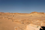 Israel, Negev. Ruins of the Nabatean Khan Saharonim in Ramon crater