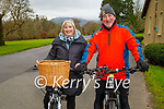 Enjoying a cycle in the Killarney National park on Saturday, l to r: Catherine and Liam Hartnett