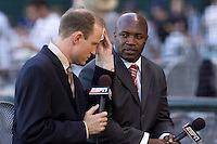 July 15, 2009: ESPN broadcaster Eric Young, Sr. during the 2009 Triple-A All-Star Game at PGE Park in Portland, Oregon.