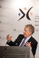 Montreal (QC)CANADA -Nov 6 2008 -..Quebec Premier Jean Charest adress the Montreal Board of Trade on the electoral campagaing first day...The Quebec Provincial elections will be held December 8, 2008..