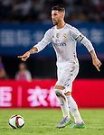Sergio Ramos of Real Madrid CF in action during the FC Internazionale Milano vs Real Madrid  as part of the International Champions Cup 2015 at the Tianhe Sports Centre on 27 July 2015 in Guangzhou, China. Photo by Aitor Alcalde / Power Sport Images