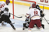 Overturned - JD Dudek (BC - 15), Brian Pinho (PC - 26), Colin White (BC - 18) - The Boston College Eagles defeated the visiting Providence College Friars 3-1 on Friday, October 28, 2016, at Kelley Rink in Conte Forum in Chestnut Hill, Massachusetts.The Boston College Eagles defeated the visiting Providence College Friars 3-1 on Friday, October 28, 2016, at Kelley Rink in Conte Forum in Chestnut Hill, Massachusetts.
