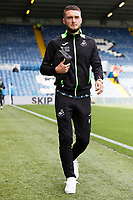 LEEDS, ENGLAND - AUGUST 31: Matt Grimes of Swansea City arrives prior to the game during the Sky Bet Championship match between Leeds United and Swansea City at Elland Road on August 31, 2019 in Leeds, England. (Photo by Athena Pictures/Getty Images)