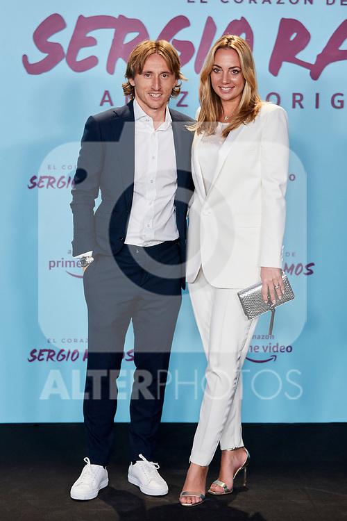 "Luka Modric and Vanja Bosnic attends to ""El Corazon De Sergio Ramos"" premiere at Reina Sofia Museum in Madrid, Spain. September 10, 2019. (ALTERPHOTOS/A. Perez Meca)"