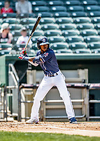 6 June 2021: New Hampshire Fisher Cats infielder Samad Taylor in action against the Binghamton Rumble Ponies at Northeast Delta Dental Stadium in Manchester, NH. The Rumble Ponies defeated the Fisher Cats 9-6 to close out their 6-game series. Mandatory Credit: Ed Wolfstein Photo *** RAW (NEF) Image File Available ***