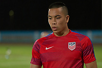 Couva, Trinidad & Tobago - Tuesday Oct. 10, 2017:  Bobby Wood during a 2018 FIFA World Cup Qualifier between the men's national teams of the United States (USA) and Trinidad & Tobago (TRI) at Ato Boldon Stadium.